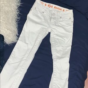 White rock revival jeans barley worn